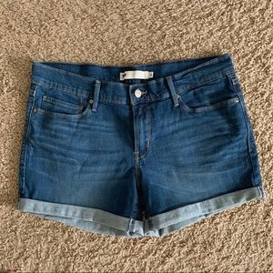 Levi's Denim Jean Shorts Rolled Hem